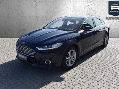 brugt Ford Mondeo 2,0 TDCi Titanium Powershift 150HK 5d 6g Aut. - Personbil - Mørkblå