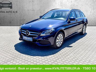 brugt Mercedes C220 d 2,1 D 7G-Tronic Plus 170HK Stc Aut. - Personbil - mørkblåmetal