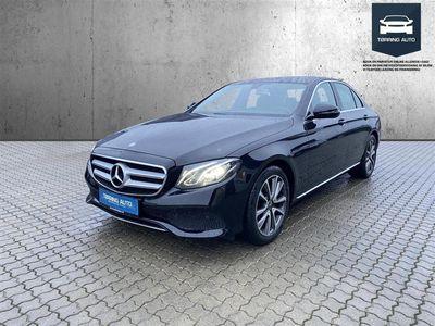 brugt Mercedes E220 2,0 D 9G-Tronic 194HK 9g Aut. - Personbil - Sort