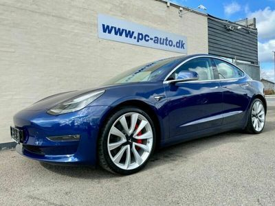 brugt Tesla Model 3 Performance AWD 4d