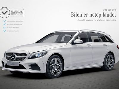 brugt Mercedes C220 d 2,0 AMG Line stc. aut.