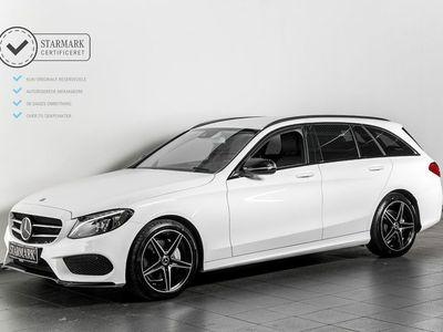 brugt Mercedes C200 2,0 AMG Line stc. aut.