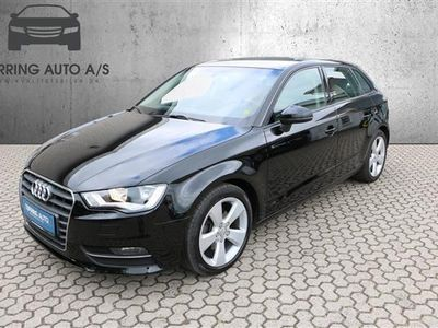 brugt Audi A3 Sportback 1,4 TFSI Ambition 125HK Stc - Personbil - sort