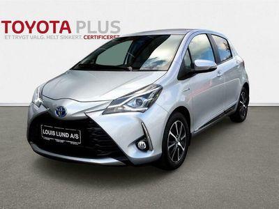 brugt Toyota Yaris Hybrid 1,5 B/EL Limited E-CVT 100HK 5d Trinl. Gear A+++