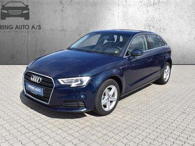 brugt Audi A3 Sportback 1,6 TDI 116HK 5d 6g - Personbil - Mørkblåmetal