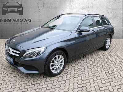 brugt Mercedes C200 T 1,6 D 7G-Tronic Plus 136HK Stc 7g Aut. - Personbil - sortmetal