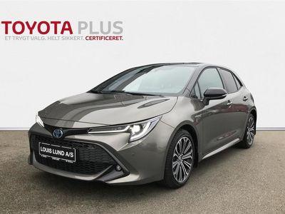 brugt Toyota Corolla 1,8 B/EL H3 Premiumpakke E-CVT 122HK 5d Trinl. Gear A+++