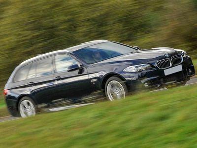 brugt BMW 520 d Touring 2,0 D Steptronic 190HK Stc 8g Aut. - Personbil - sort