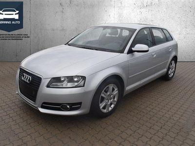 brugt Audi A3 Sportback 2,0 TDI DPF Ambition 140HK 5d 6g - Personbil - Sølvmetal