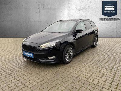 brugt Ford Focus 1,5 TDCi ST-Line Powershift 120HK Stc 6g Aut. - Personbil - Sortmetal