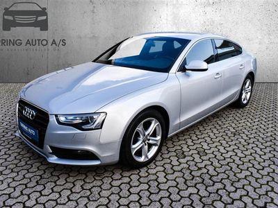 brugt Audi A5 Sportback 3,0 TDI Multitr. 204HK 5d 6g Aut. - Personbil - sølvmetal
