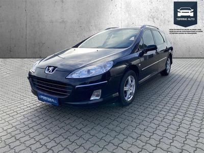 brugt Peugeot 407 SW 1,6 HDI XR 109HK Stc - Personbil - Sort