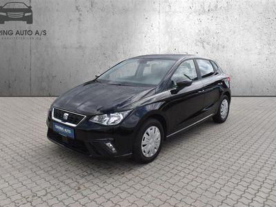 brugt Seat Ibiza 1,0 TSI Style 95HK 5d - Personbil - Sortmetal