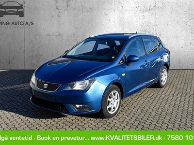 brugt Seat Ibiza 1,2 TDI Style 75HK Stc - Personbil - blåmetal