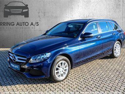 brugt Mercedes C200 T 1,6 D 136HK Stc 6g - Personbil - blå