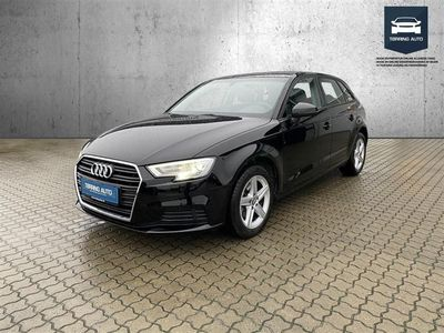 brugt Audi A3 Sportback 1,0 TFSI 116HK 5d 6g - Personbil - Sortmetal