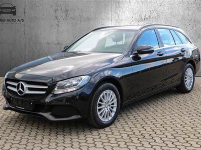 brugt Mercedes C200 T 1,6 Bluetec 136HK Stc 6g - Personbil - Sortmetal