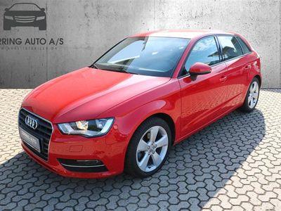 brugt Audi A3 Sportback 1,4 TFSI Ambition S Tronic 150HK Stc Aut. - Personbil - rød