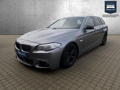 brugt BMW 520 d Touring 2,0 D 184HK Stc 6g - Personbil - Grå