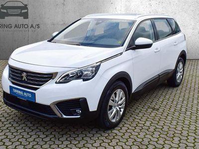 brugt Peugeot 5008 1,2 PureTech Allure EAT8 130HK 8g Aut. - Personbil - hvid - 7 pers.