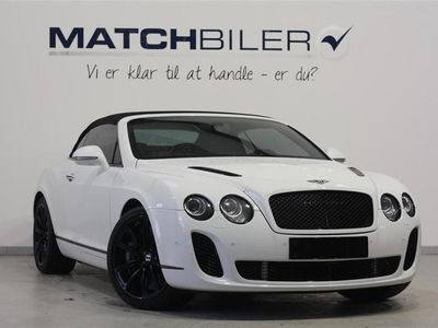 brugt Bentley Continental Supersports 6,0 4x4 630HK Cabr. 6g Aut.