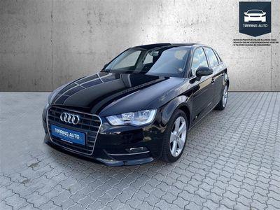 brugt Audi A3 Sportback 2,0 TDI DPF Ambition 150HK Stc 6g - Personbil - Sort