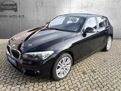 brugt BMW 120 d 2,0 D Steptronic 190HK 5d 8g Aut. - Personbil - sort