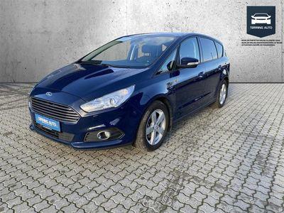 brugt Ford S-MAX 2,0 EcoBlue Trend 150HK 8g Aut. - Personbil - Mørkblå - 7 pers.