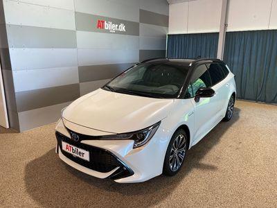 brugt Toyota Corolla Touring Sports 2,0 Hybrid H3 Premium E-CVT 180HK Stc 6g Aut. A+