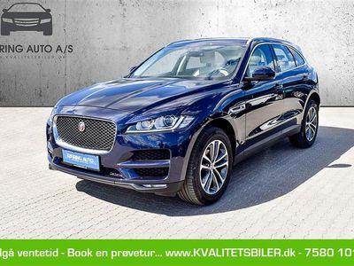 brugt Jaguar F-Pace 2,0 D Prestige AWD 180HK 5d 6g - Personbil - mørkblåmetal