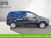 brugt VW Touran 1,6 blueMotion TDI Comfortline 105HK 6g - Personbil - sort - 7 pers.