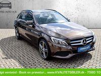 brugt Mercedes C220 2,1 D 7G-Tronic Plus 170HK Stc Aut. - Personbil - mørkgrå