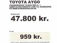 brugt Toyota Aygo 1,0 Plus