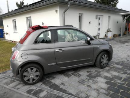 verkauft fiat 500 cabrio in grau mit w gebraucht 2013 km in weyhausen. Black Bedroom Furniture Sets. Home Design Ideas