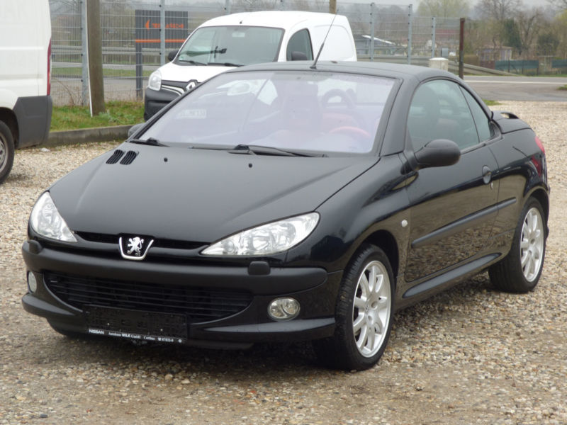 verkauft peugeot 206 cc cabriolet plat gebraucht 2002 km in l bben. Black Bedroom Furniture Sets. Home Design Ideas