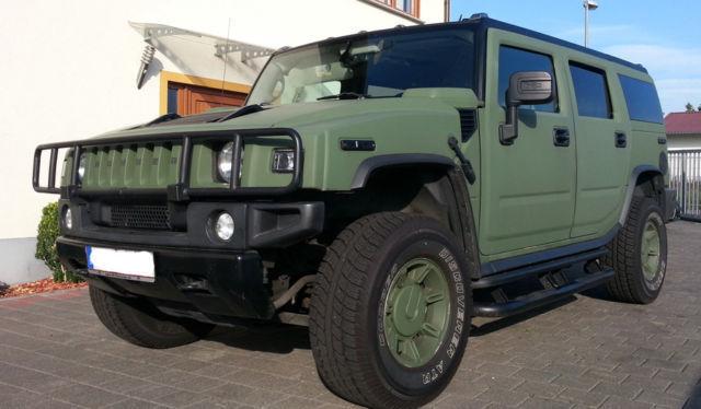 Verkauft Hummer H2 grün-matt mit LPG G., gebraucht 2006, 161.500 km ...