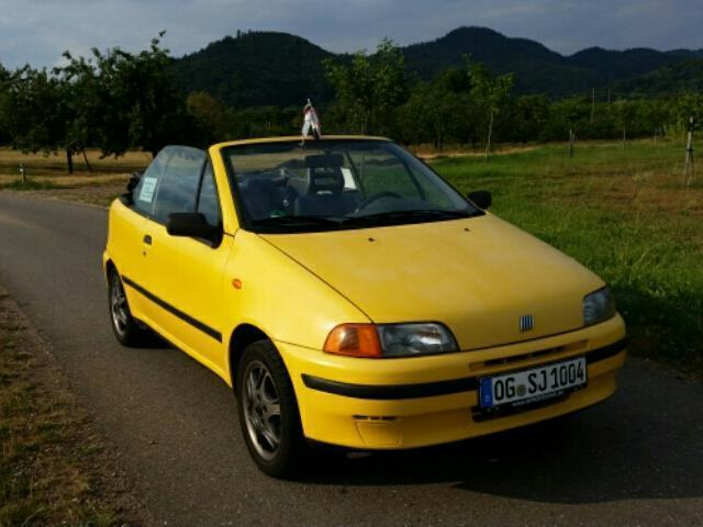gebraucht s fiat punto cabriolet 1997 km in ohlsbach. Black Bedroom Furniture Sets. Home Design Ideas