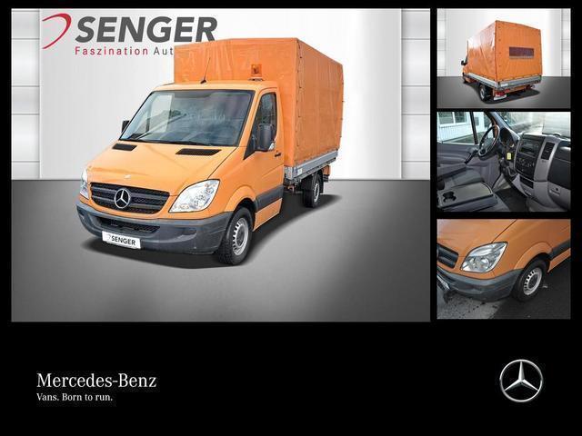 gebraucht Mercedes Sprinter 313 CDI Pritsche/Plane+Leuchte+AHK+LKW