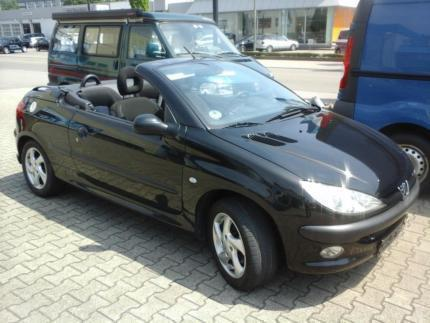 verkauft peugeot 206 cc cabrio gebraucht 2002 km in schw bisch gm nd. Black Bedroom Furniture Sets. Home Design Ideas