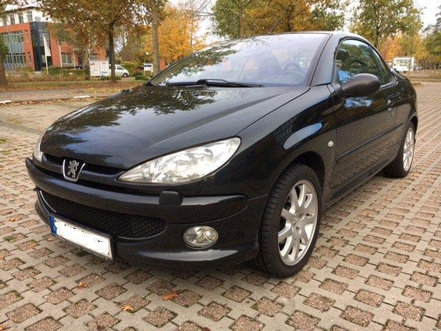 verkauft peugeot 206 cc cabrio gebraucht 2003 km. Black Bedroom Furniture Sets. Home Design Ideas