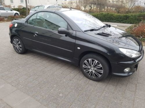 verkauft peugeot 206 cc 110 schwarz gebraucht 2004. Black Bedroom Furniture Sets. Home Design Ideas