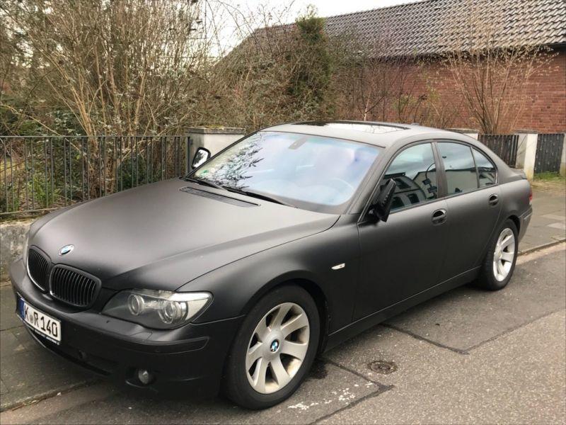 1 4 Gebraucht BMW 745 D Softclose Keyless Schwarz Matt Foliert