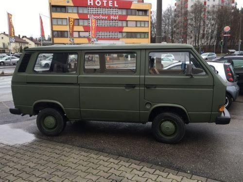 verkauft vw t3 bundeswehr armee 1 6 gebraucht 1987 km in aussenstadt sued. Black Bedroom Furniture Sets. Home Design Ideas
