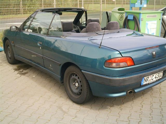 verkauft peugeot 306 cabriolet 1 6 gebraucht 1997 187. Black Bedroom Furniture Sets. Home Design Ideas