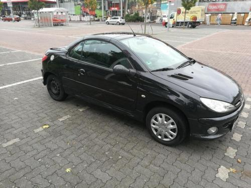 verkauft peugeot 206 cc cabrio hu 2 1 gebraucht 2005 km in koblenz. Black Bedroom Furniture Sets. Home Design Ideas