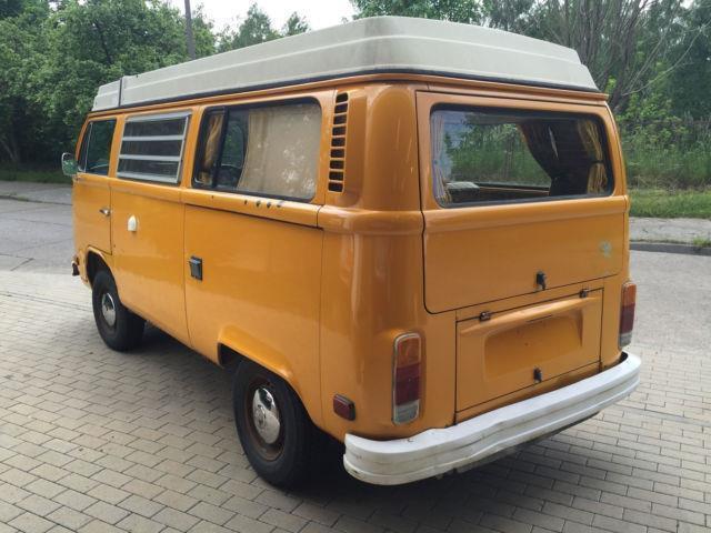 verkauft vw t2 b westfalia 1976 gelb e gebraucht 1976 km in berlin. Black Bedroom Furniture Sets. Home Design Ideas