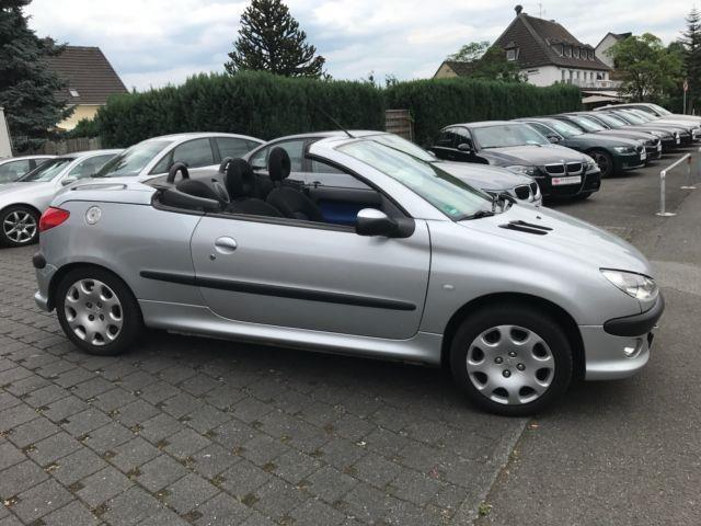 verkauft peugeot 206 cc cabriolet 1 ha gebraucht 2003 km in bad breisig. Black Bedroom Furniture Sets. Home Design Ideas