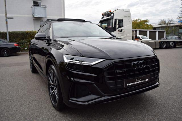 verkauft audi q8 3x s line black editi gebraucht 2018 1. Black Bedroom Furniture Sets. Home Design Ideas