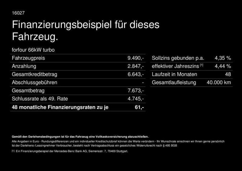 verkauft smart forfour 66kw turbo pass gebraucht 2016 km in bad homburg. Black Bedroom Furniture Sets. Home Design Ideas