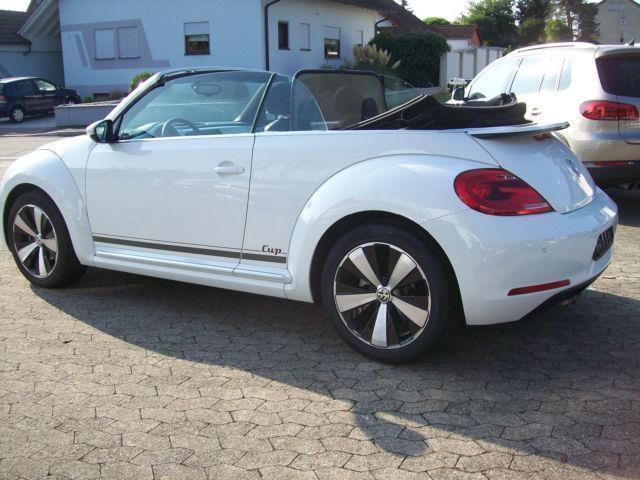 verkauft vw beetle cabrio 70 39 s design gebraucht 2014 km in marktoberdorf. Black Bedroom Furniture Sets. Home Design Ideas
